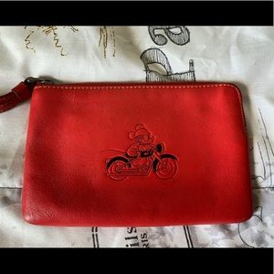 Mickey Mouse Coach Wristlet- Used